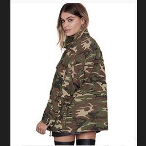 Jackets & Blazers - Oversized camo denim jacket
